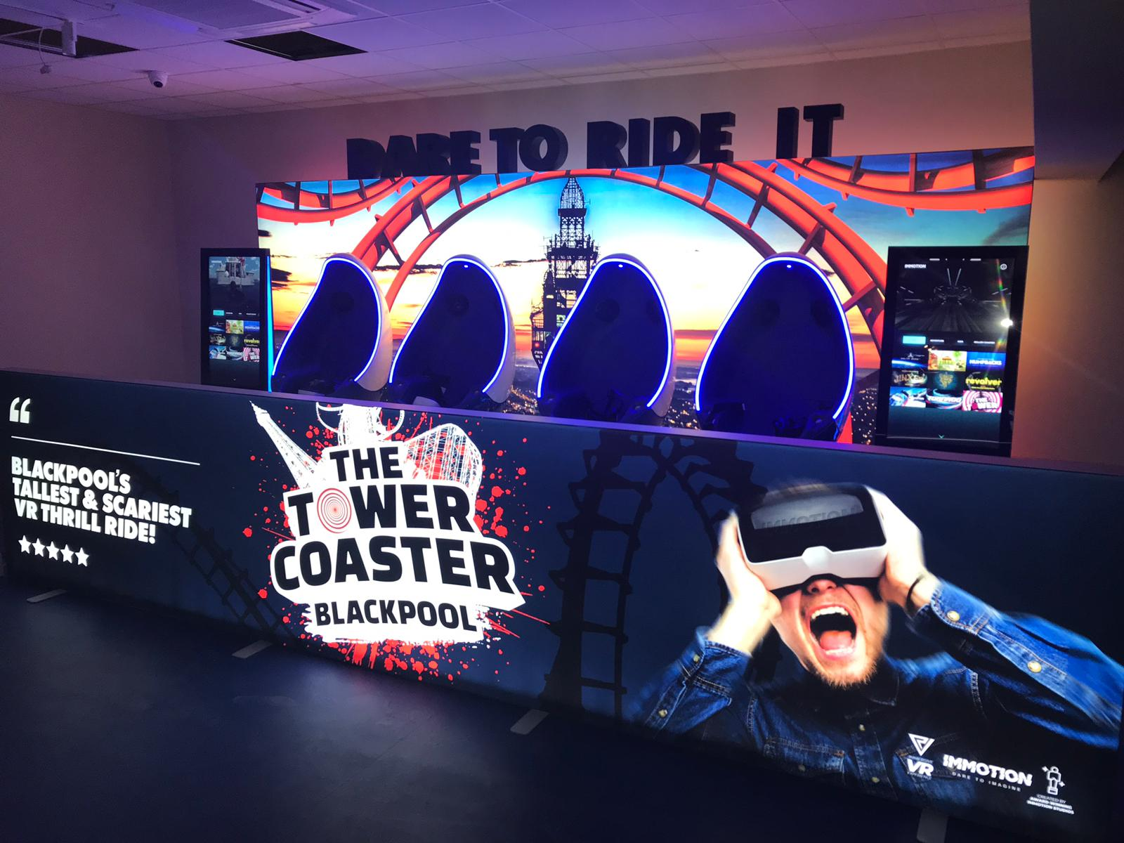Lift-Off for Virtually the Tallest Rollercoaster in Blackpool